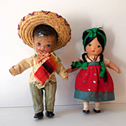 (2) Old Composition Dolls From Mexico