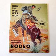 1975 Rodeo Program Shasta Count Sheriff's Posse