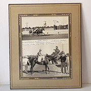 "Original 1940s Horse Racing Photograph ""Sad Jullie"""