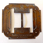 Brass Dial Radio Bezel for RCA Radiola 25
