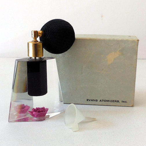 Gorgeous 1950s Atomizer Perfume Bottle In Original Box