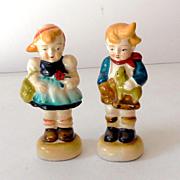 Pair Occupied Japan Hummel Style Figurines