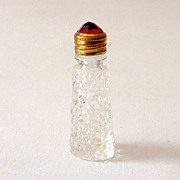 Miniature Perfume Bottle With Jewel Top Irice