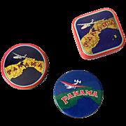 (3) Different Panama Typewriter Ribbon Tins Aviation