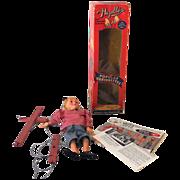 1950s Hazelle's Marionette Puppet In Original Box