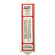Vintage Tin Advertising Thermometer Monument Company