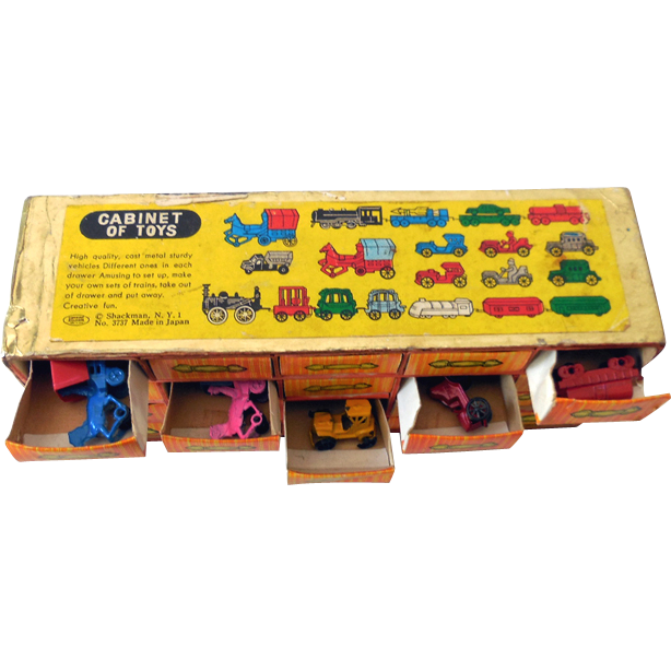 1950s Miniature Toy Vehicle Set (20) In Original Box