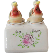 Vintage Ceramic Nodding Bird Salt Pepper Shakers
