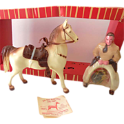 1960s Ohio Plastic Cowboy & Horse Mint in Box