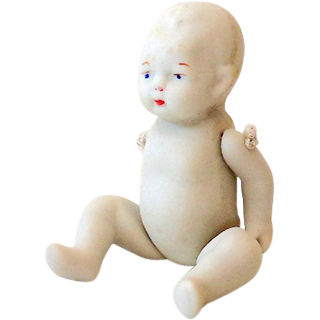 Small Jointed Bisque Baby Doll Japan