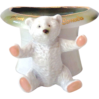 Sweet Early German Pink Paws Bear Figurine Fairing