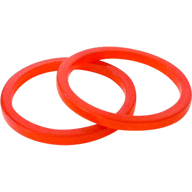 Pair 1950's Orange Lucite Plastic Bracelets *New Old Stock*