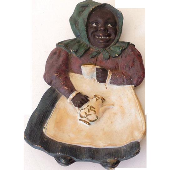 Vintage Black Americana Mammy Spoon Rest Germany