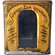 Old Tin & Glass Pharmacy Display Bin Slippery Elm