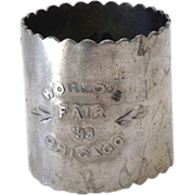 1893 Chicago World's Fair Souvenir Napkin Ring
