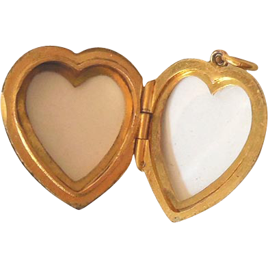 Victorian Rolled Gold Heart Shaped Locked
