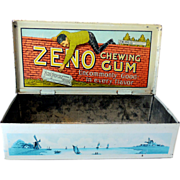Zeno Chewing Gum Store Counter Display Tin Box