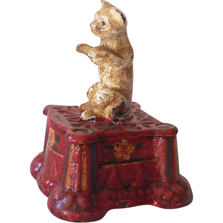Early 1900s Cast Iron Circus Cat or Bear