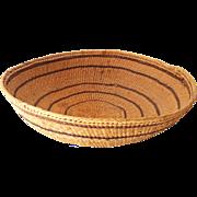 LARGE Vintage Hand Made Indian Basket Bowl