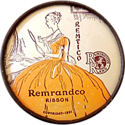 1930s Remranco Typewriter Ribbon Tin w/ Cardboard Lid