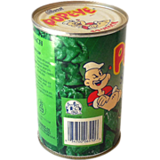 Vintage Allen's Spinach Tin Can Popeye The Sailor Label
