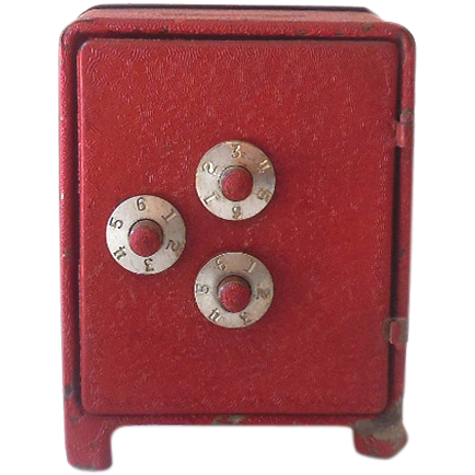 Small Cast Iron Toy Safe Bank With Combination