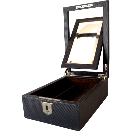 Gentleman's Shaving Box With Beveled Mirror