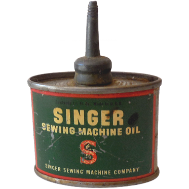 vintage singer sewing machine can