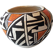 Vintage Acoma Indian Hand Made Clay Pot