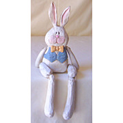 Jointed Sitting Bunny Rabbit Figure