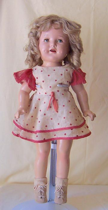 1930's Composition Shirley Temple Doll 20 Inch