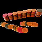 192 Vintage 1930s Bakelite Poker Chips