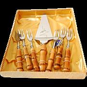 1940s Desert Forks & Cake Server in Box