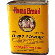 Vintage Home Brand Curry Powder Spice Tin