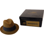 Vintage Miniature Stetson Hat In Gift Box1930s-40s