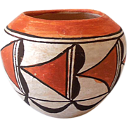 Native American Acoma Pueblo Hand Made Clay Pot