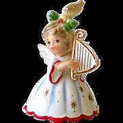 Josef Originals Christmas Angel Bell Ornament Harp