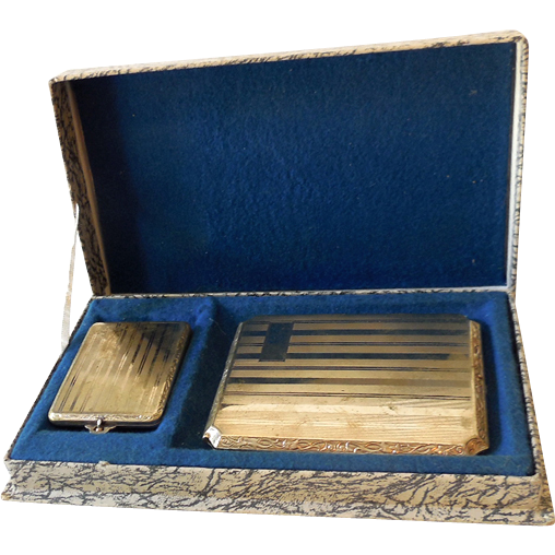 silver plated cigarette case  u0026 match holder in box from californiagirls on ruby lane