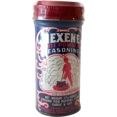 1950s Mexene Spice Tin Great Graphics with Devil