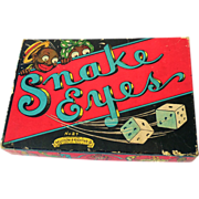 Vintage 1930s Snake Eyes Game Black Americana