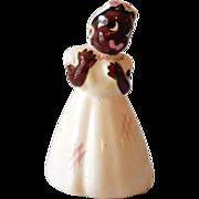 Vintage Black Americana Figural Ceramic Bud Vase