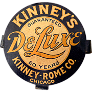 1930s Advertising Tin Sign Kinney Rome Co. Chicago