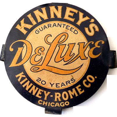1930s Advertising Tin Sign Kinney Rome Co. Chicago