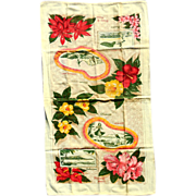 Vintage Hawaiian Dresser Scarf Runner Hula Girls Surfer
