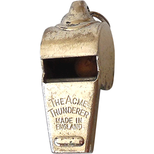 Vintage Metal Whistle Made in England