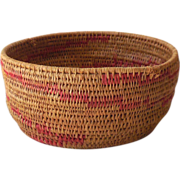 Vintage Hand Woven American Indian Basket