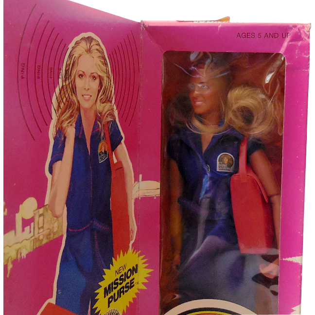1974 Kenner Bionic Woman Action Figure Doll w/  Mission Purse In Box