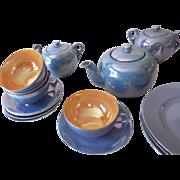 "Vintage 21 Piece Lusterware Luncheon Tea Set Japan ""A"""