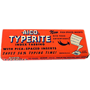 1953 AICO Typerite Typewriter Strips In Box