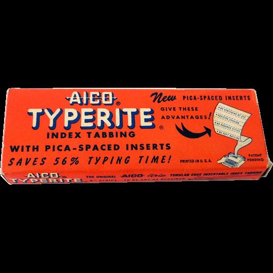 1953 AICO Typerite Typewriter Strips In Box